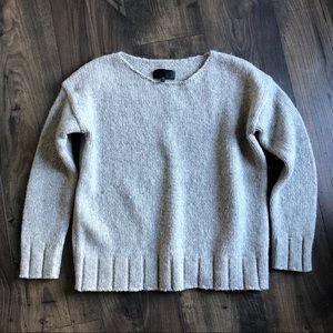 Nili Lotan Wool Yak Sweater Gray XS
